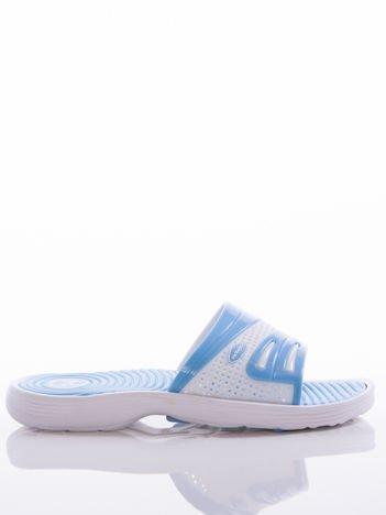 Niebieskie damskie klapki basenowe Mc Keylor z ażurową cholewką