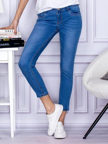 Niebieskie gładkie jeansy regular PLUS SIZE
