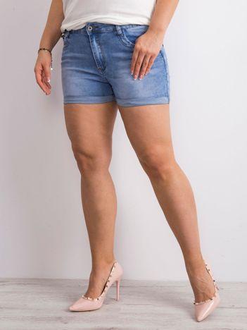 Niebieskie jeansowe szorty PLUS SIZE
