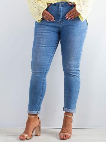 Niebieskie jeansy Noisy PLUS SIZE