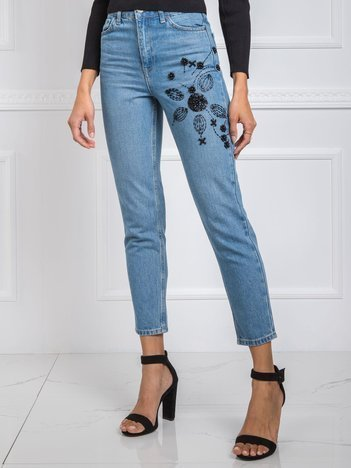 Niebieskie jeansy Simone RUE PARIS