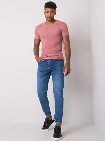Niebieskie jeansy męskie regular fit Rylan