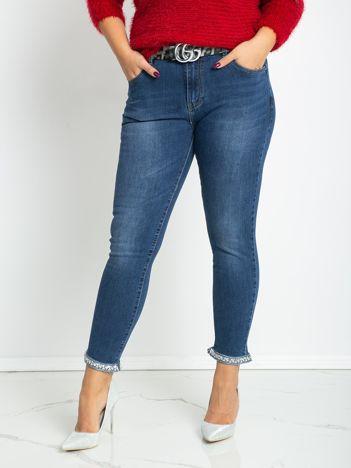 Niebieskie jeansy plus size Gianna