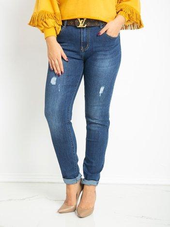 Niebieskie jeansy plus size Mayfair