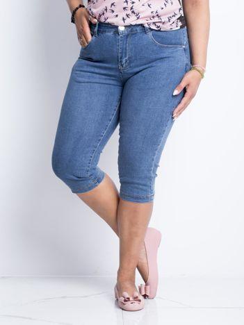 Niebieskie jeansy plus size Transform