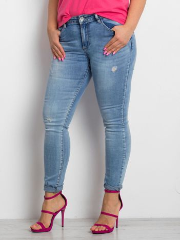 Niebieskie jeansy plus size Undecided