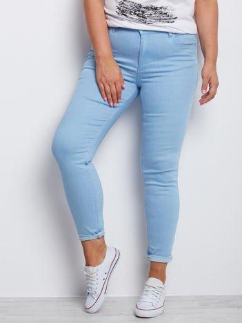 Niebieskie spodnie plus size Mangroves
