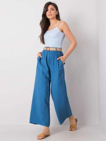 Niebieskie szerokie spodnie Isbel RUE PARIS
