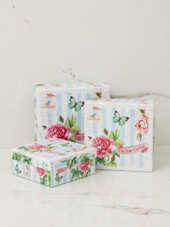 Niebiesko-biały zestaw pudełek