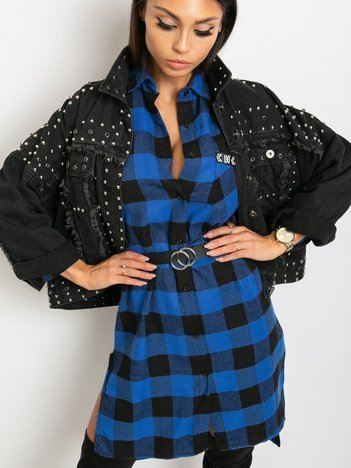 Niebiesko-czarna sukienka Paradox