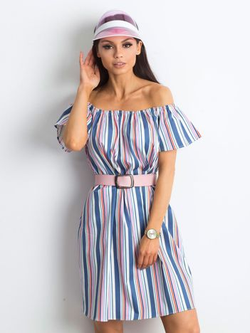 0ac362d1ef Niebiesko-różowa sukienka Caramelo