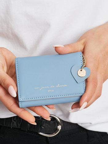 Niebiesko-różowy mini portfel