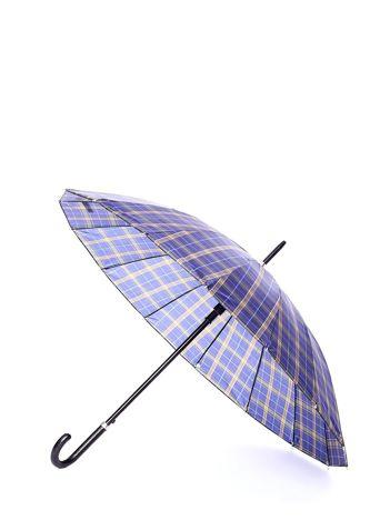 Niebiesko-żółty parasol w kratkę