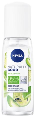 "Nivea Dezodorant damski Naturally Good Bio Aloe Vera - atomizer 75ml"""