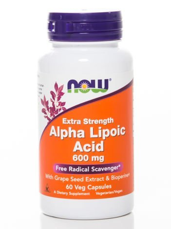 Now - Alpha Lipolic Acid 600mg - 60 kapsułek
