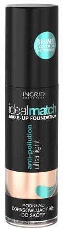 Nowość! INGRID COSMETICS Podkład dopasowujący się do koloru skóry IDEAL MATCH 404 Warm Sand 30 ml