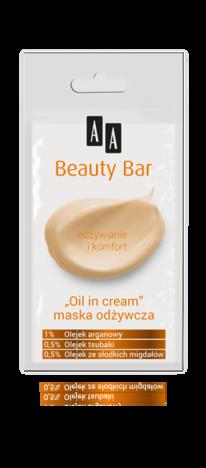 "OCEANIC AA BEAUTY BAR Maska ""oil in cream"" odżywcza 8 ml"