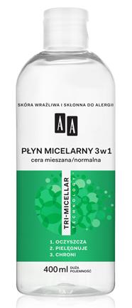 OCEANIC AA TRI-MICELLAR Płyn micelarny 3w1 cera mieszana/normalna 400 ml