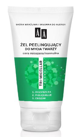 OCEANIC AA TRI-MICELLAR Żel peelingujący do mycia twarzy cera mieszana/normalna 150 ml