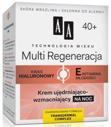 OCEANIC AA Technologia Wieku 40+ Multi Regeneracja Krem ujędrniająco-wzmacniający na noc 50 ml
