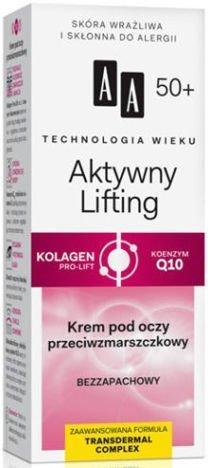 OCEANIC AA Technologia Wieku 50+ Aktywny Lifting Krem przeciwzmarszczkowy pod oczy 15 ml