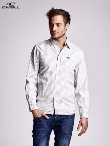 O'NEILL Beżowa koszula męska w delikatną kratkę