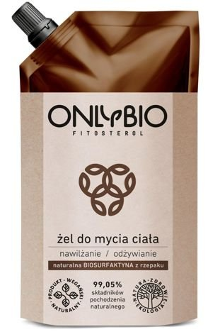 ONLYBIO Nawilżająco-odżywczy naturalny żel do mycia ciała 250 ml zapas