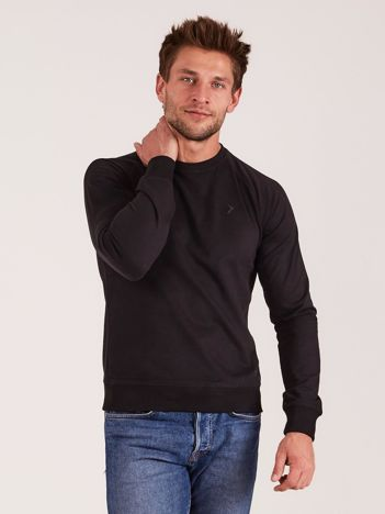 OUTHORN Czarna bluza męska bez kaptura