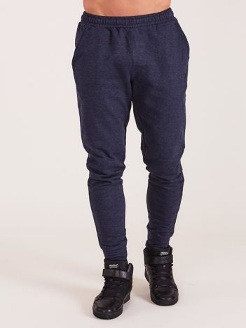 OUTHORN Granatowe męskie spodnie dresowe