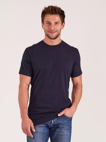 OUTHORN Granatowy t-shirt męski