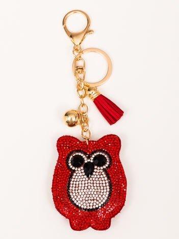 OWL Czerwony Brelok Sowa z chwostem