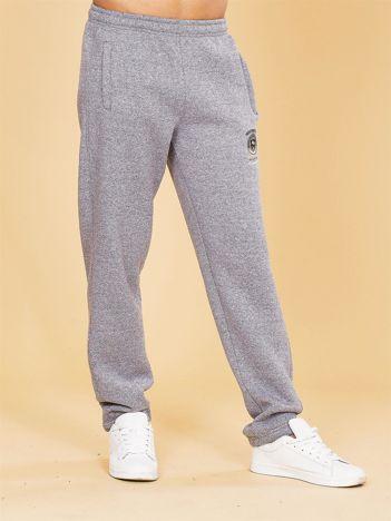Ocieplane męskie spodnie dresowe szare