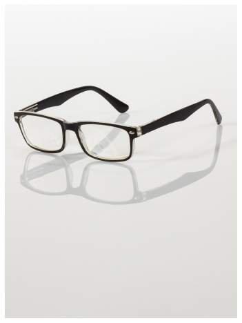 Okulary korekcyjne +1.0 D ,model WAYFARER do czytania z systemem FLEX na zausznikach +GRATIS PLASTIKOWE ETUI I ŚCIERECZKA Z MIKROFIBRY