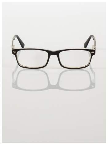 Okulary korekcyjne +2.0 D ,model WAYFARER do czytania z systemem FLEX na zausznikach +GRATIS PLASTIKOWE ETUI I ŚCIERECZKA Z MIKROFIBRY