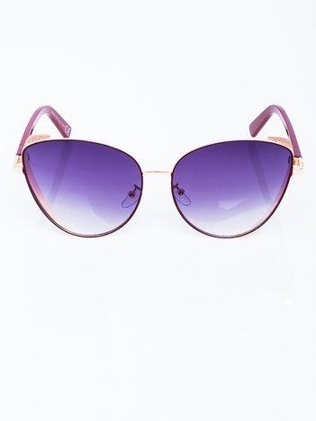 Okulary przeciwsłoneczne CAT EYE z ozdobami GLITTER