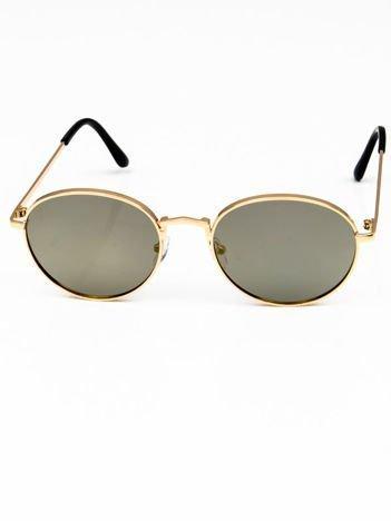 Okulary przeciwsłoneczne NIEBIESKOZIELONE LUSTRZANKI