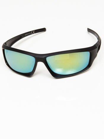 Okulary przeciwsłoneczne męskie w stylu sportowym morska lustrzanka