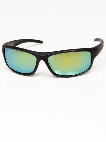 Okulary przeciwsłoneczne męskie w stylu sportowym morskie szkło lustro