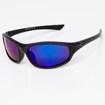 Okulary przeciwsłoneczne męskie w stylu sportowym niebieskie lustrzanka