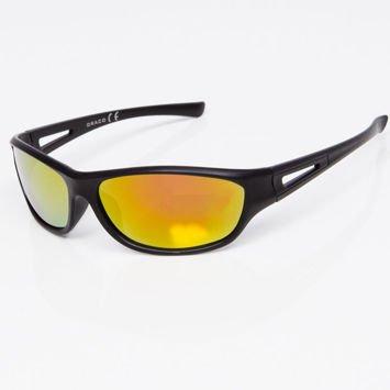 Okulary przeciwsłoneczne męskie w stylu sportowym żółte lustrzanki