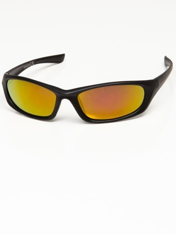 Okulary przeciwsłoneczne męskie w stylu sportowym żółto-złoto-pomarańczowe soczewki