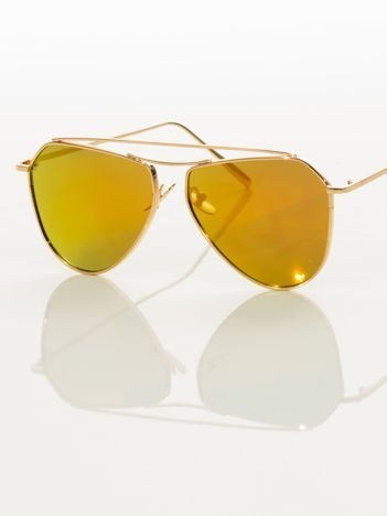 Okulary przeciwsłoneczne pilotki w nowoczesnym stylu - GLAM ROCK  HIT !