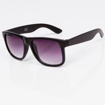 Okulary przeciwsłoneczne w stylu WAYFARER czarne szkło dymione