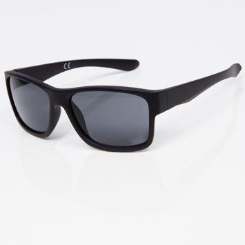 Okulary przeciwsłoneczne w stylu WAYFARER czarne szkło szare