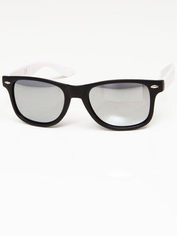 Okulary przeciwsłoneczne w stylu WAYFARER czarno-BIAŁE lustrzanki morskie
