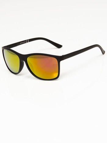 Okulary przeciwsłoneczne w stylu WAYFARER lustrzanki żółto-złoto-pomarańczowe