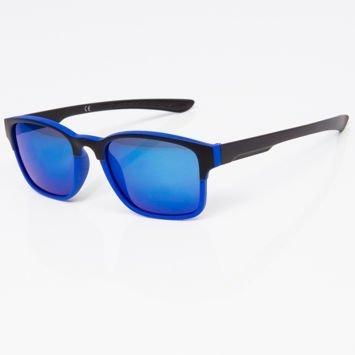Okulary przeciwsłoneczne w stylu WAYFARER niebiesko-czarne szkło lustrzanka niebieskie