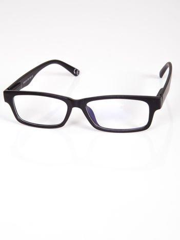 Okulary zerówki z antyrefleksem czarne matowe ramki z systemem flex