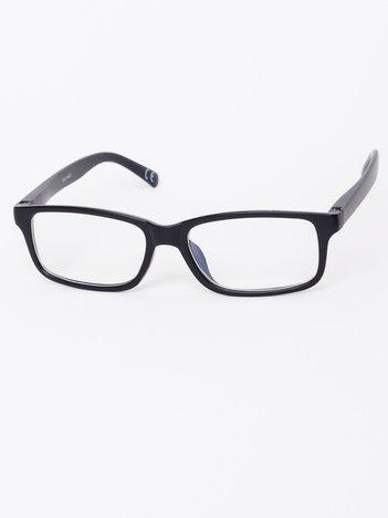 Okulary zerówki z antyrefleksem czarne matowe ramki z wygodnym systemem flex na zausznikach