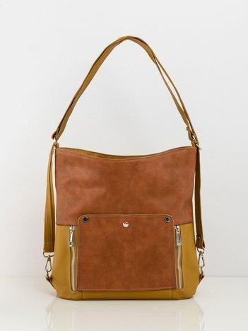 Oliwkowo-brązowa torba